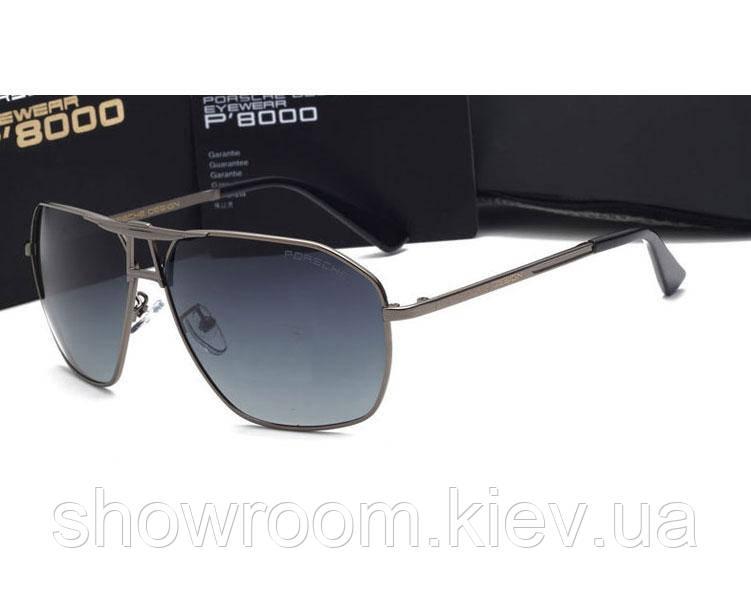 Солнцезащитные очки в стиле Porsche Design  (p-8516 new) silver