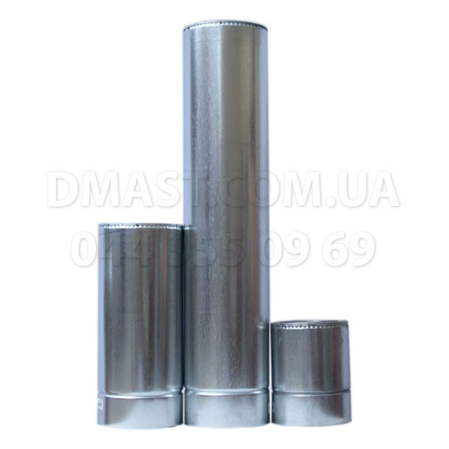 Труба для дымохода утепленная 1мм ф160/220 нерж/оцинк 1м (сендвич) AISI 304