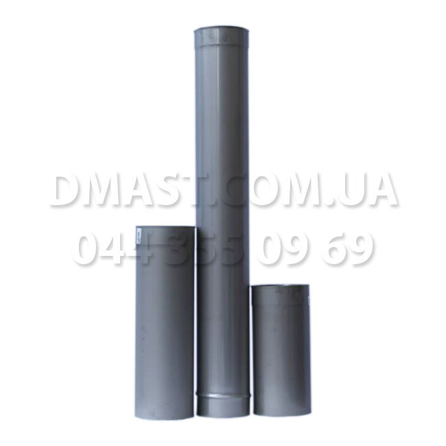 Труба для дымохода 1мм ф300 0,5м из нержавеющей стали AISI 304