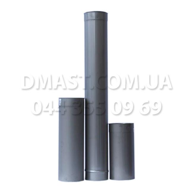 Труба для дымохода диаметр 120мм, 0,3м, 1мм из нержавеющей стали AISI 304