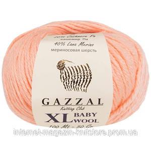 Пряжа Gazzal Baby Wool XL Персиковий
