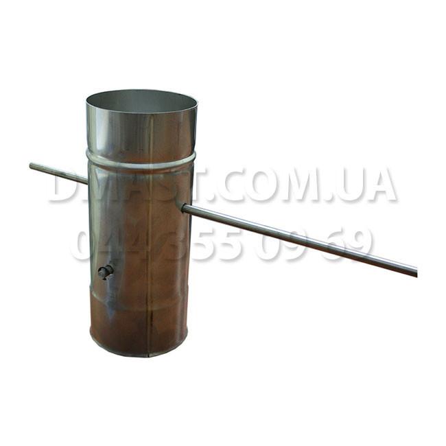 Кагла (шибер, заслонка) для дымохода 1мм ф130 из нержавеющей стали AISI 304
