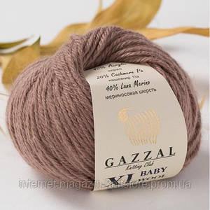 Пряжа Gazzal Baby Wool XL Коричневий