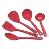 Набор кухонных аксессуаров tramontina utilita 5 предметов красный (25099/704)