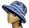 Шляпа женская Любава х/б джинс в цветах