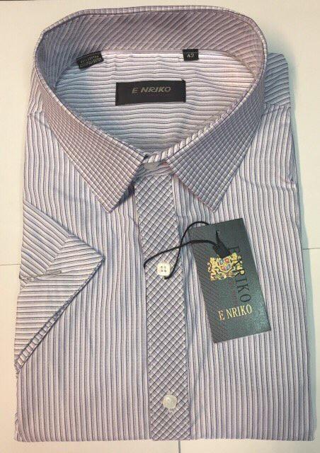 Рубашка мужская ENRIKO  короткий рукав 0540