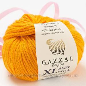 Пряжа Gazzal Baby Wool XL Жовтий