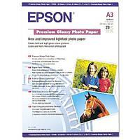 Фотобумага Epson Premium Глянцевая 250г/м кв, A3+, 20л (C13S041316)