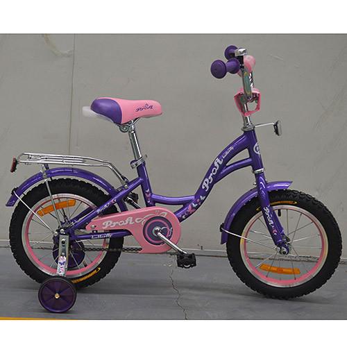 Двухколесный велосипед PROFI 18 дюймов G1822 Butterfly фиолетовый