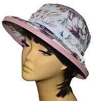 Шляпа женская Любава х/б лютики сирень