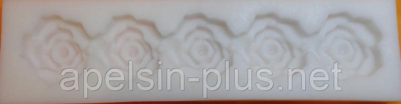 """Молд силиконовый для декора """"Розы бордюр"""" 14,2 см 3,8 см"""