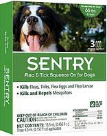 SENTRY капли от блох, клещей и комаров  для собак больше 30 кг (1 пипетка по 4,5 мл)