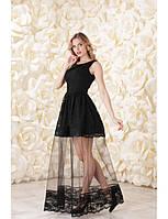 Оригинальное кружевное  платье.