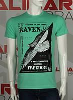 """Крутая мужская футболка """"RAVEN"""" отличного качества"""