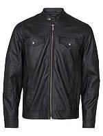 Мужская кожаная куртка Johny Jacket черного цвета от !Solid (Дания) в размере L