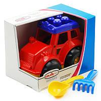 Игровой набор Трактор Кузнечик (лопатка + грабельки) 0237