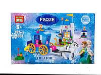 Детский конструктор для девочки Фрозен 8008 в коробке 190 деталей