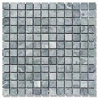 Мраморная мозаика МКР-2С (старенная/валтованная) 23*23*6 Indian Green