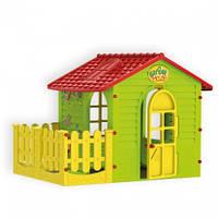 Домик для детей c террасой Mochtoys зеленый  10839