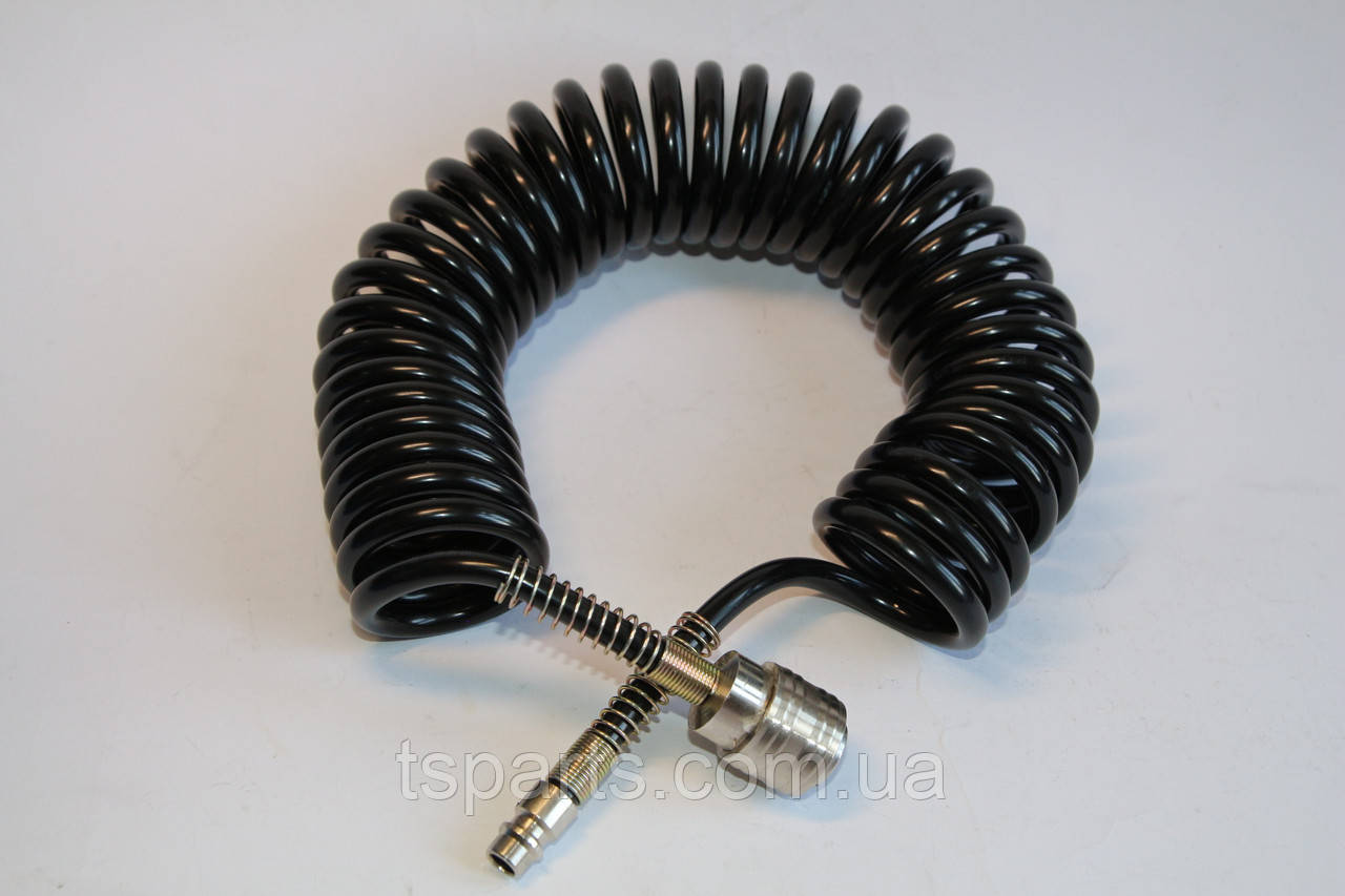 Шланг спиральный  с быстроразъемным соединением полиуритановый 15м