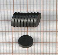 Магнит ферритовый диск 10х3 мм