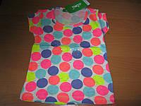 Детские летние футболочки в  горошек для девочки 1-4 года Турция хлопок