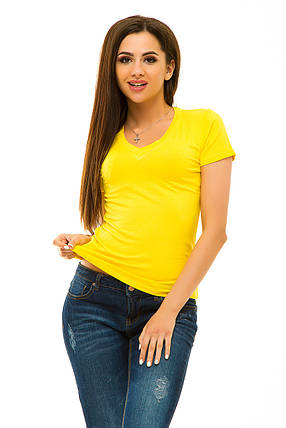 Футболка 052 желтая, фото 2