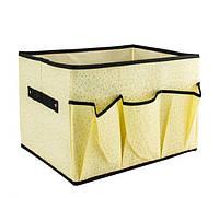 Ящик органайзер для косметики из ткани (корзина, косметичка), фото 1