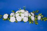 Украшение на машину Икебана  белые розы