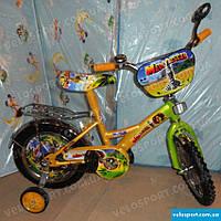 Детский велосипед Mustang Мадагаскар 12 дюймов желтый