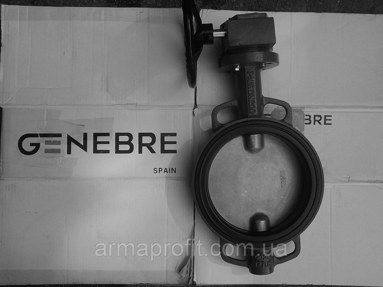 Задвижка поворотная Баттерфляй GENEBRE тип 2103 Ду350 Ру10 диск чугун оцинк. с редуктором