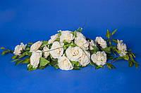 Украшение на машину икебана бежевые розы