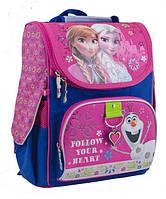 """Рюкзак (ранец) школьный каркасный """"Frozen rose"""", 553263 1 Вересня"""