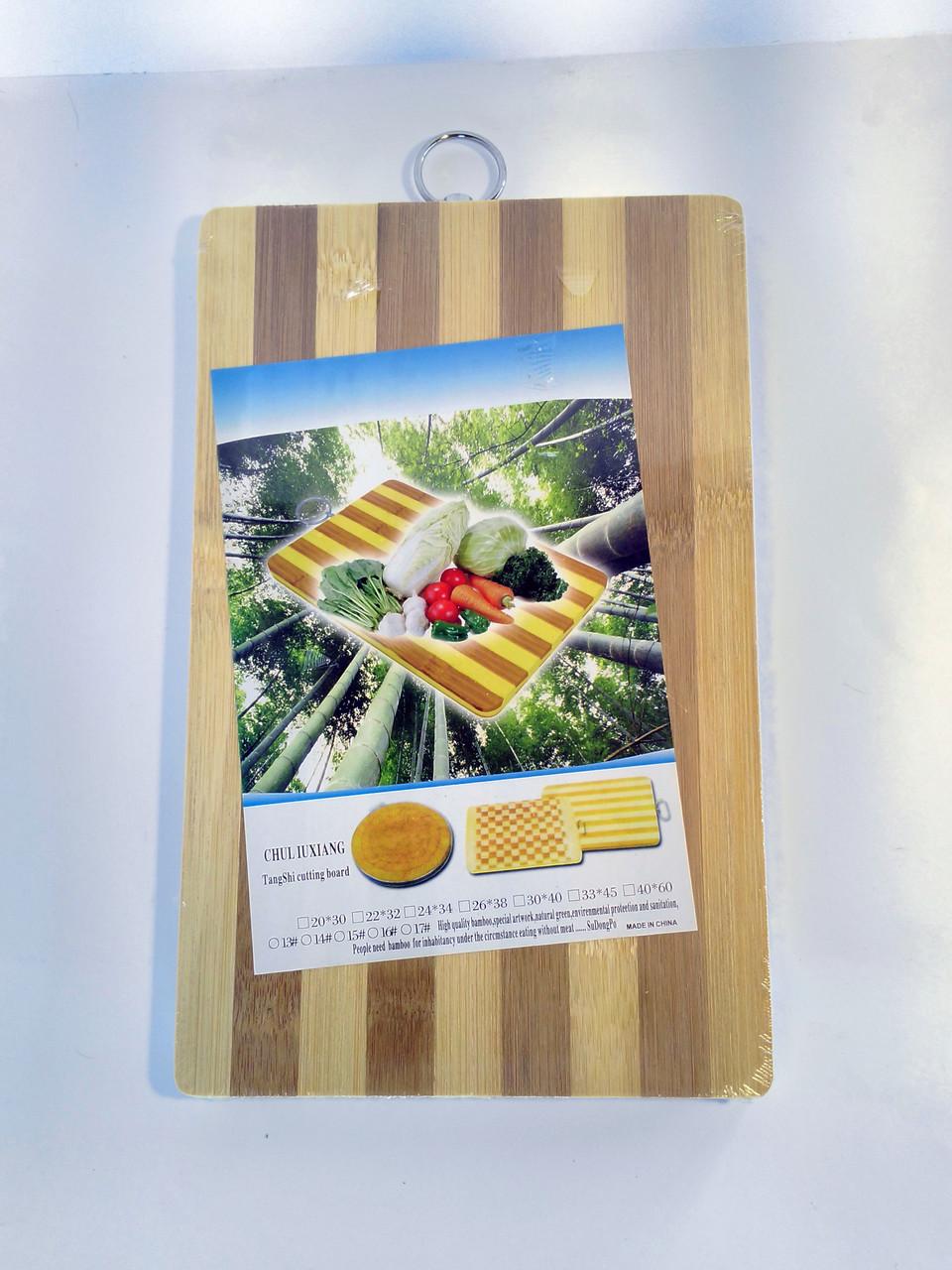 Дошка бамбукова 1,2 см 24*34