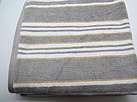 Полотенце махровое банное 70*140 хлопок серое