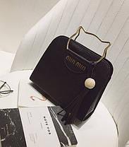 Каркасная сумка с ручками в форме котика, фото 2
