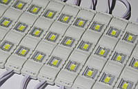 Светодиодный модуль 12V 5630 3-led lens module warm white