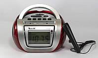 Бумбокс Радиоприёмник Golon RX-656QI с микрофоном (USB/Аккумулятор)