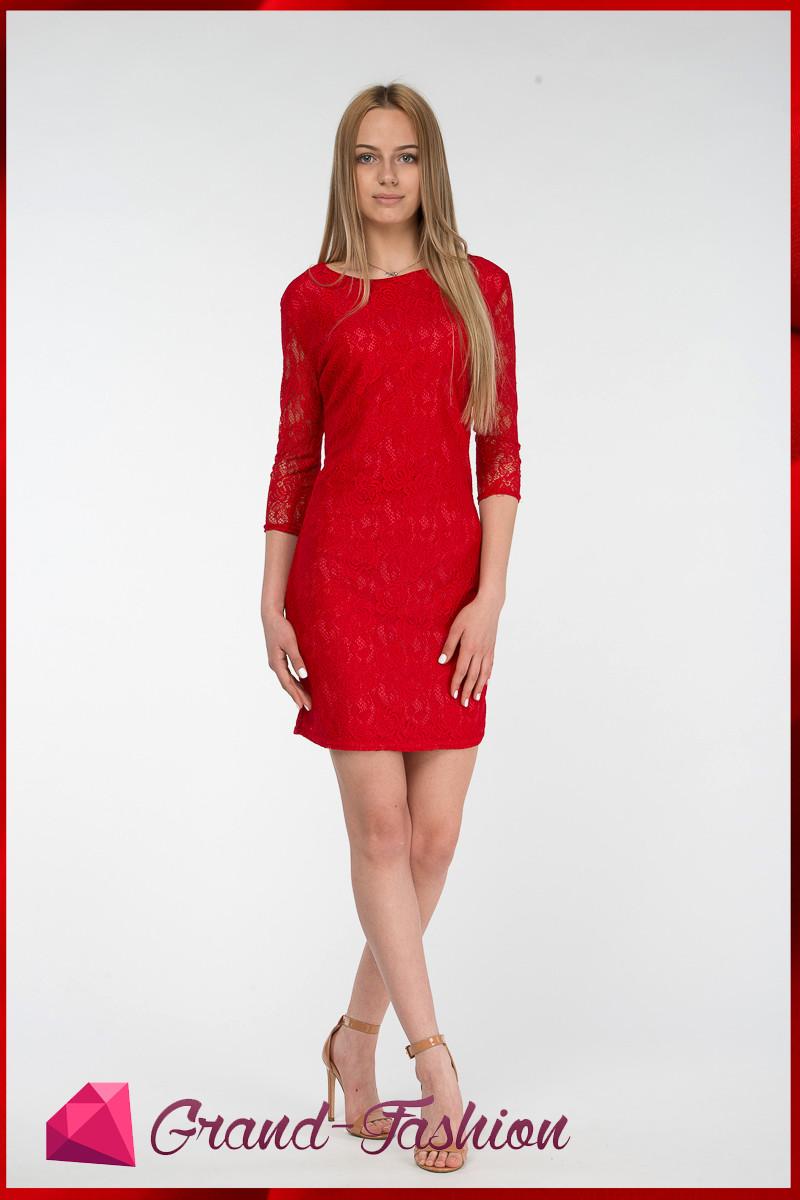 """Платье """"Lacce"""" красный"""