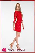 """Платье """"Lacce"""" красный, фото 3"""