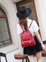 Элитные стеганые дутые рюкзаки Candy Bear с брелком , фото 2