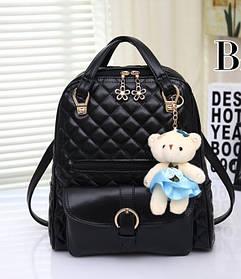 Элитные стеганые дутые рюкзаки Candy Bear с брелком
