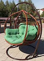 """Подвесное кресло-качели """"Galant"""" коричневая стойка"""