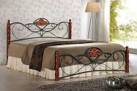 Кровать VALENTINA łóżko 160 czereśnia ant./czarny
