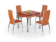Стол KENT rozkładany, kolor: pomarańczowy