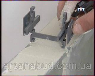 Пластиковые распорные крестики для монтажа стеклоблоков
