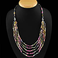 Ожерелье 300 карат из натуральных турмалинов