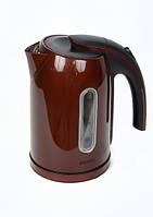 Электрический чайник Astor HНB-1336 Inox/brown, электрочайник, чайник металлический