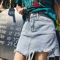 Стильная джинсовая юбка