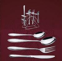 Столовые приборы на стойке 6 персон, кухонная посуда
